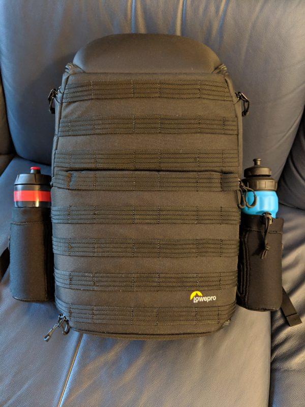 Rucksack mit Flaschenhaltern