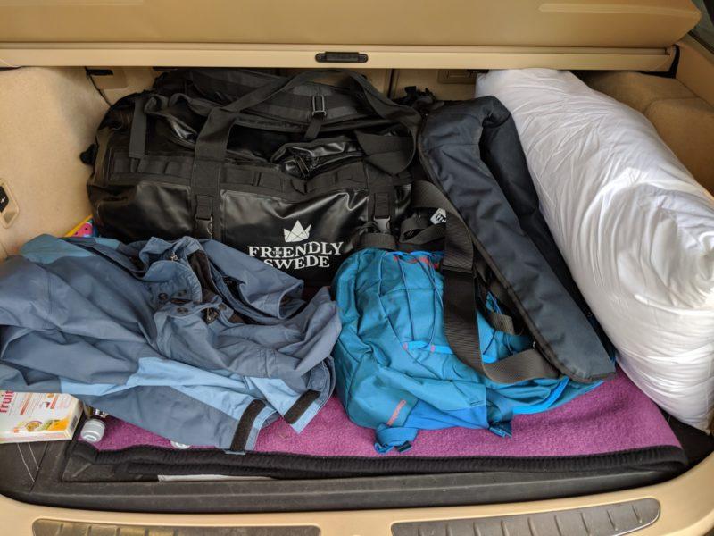 Vorbereitung Intensivtraining Hafenmanöver:Trotz Kombi: Kofferraum voll.