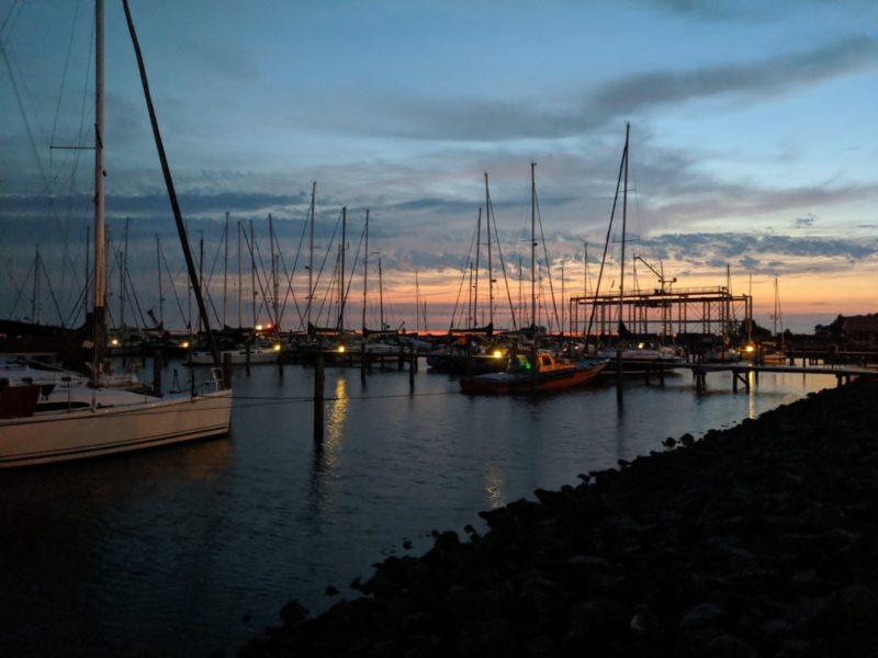Hafenmanöver: Abendrot!