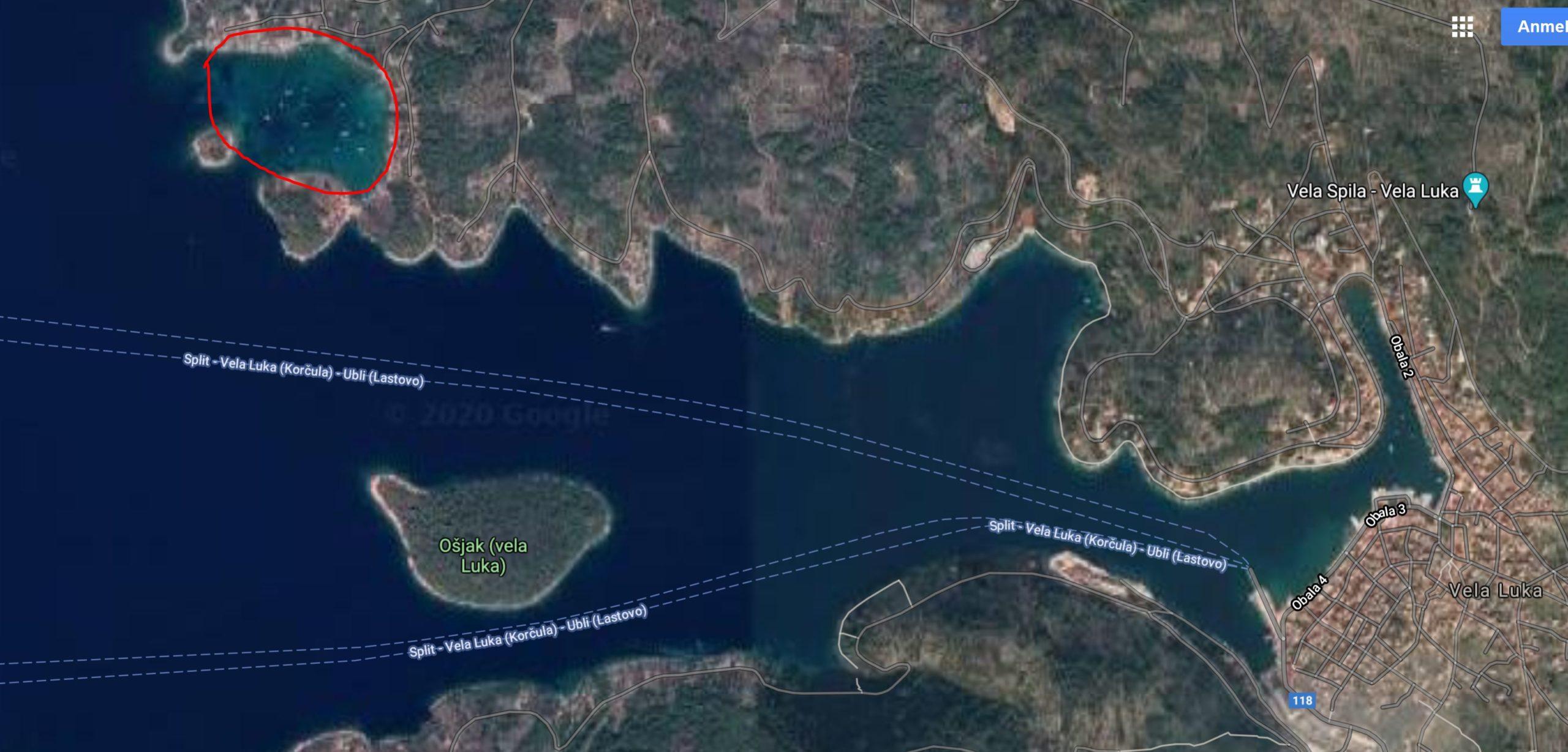 Ausweichhafen für Vela Luka.