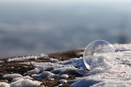 Eisblase mit Weitblick.